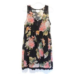Anthro Maeve Violeta Floral Shift Dress